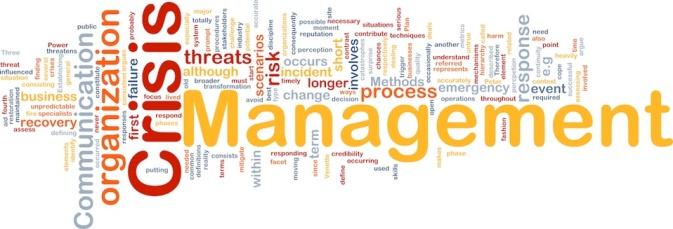 Crisis management is bone background concept